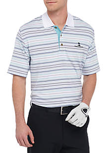 Classic-Fit  Poly Jersey Stripe Performance Polo Shirt