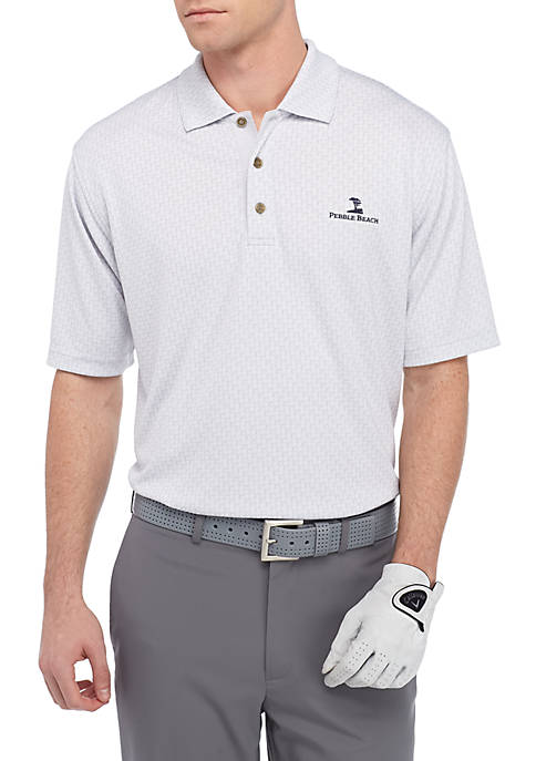 PEBBLE BEACH™ Tonal Jacq Performance Golf Polo Shirt