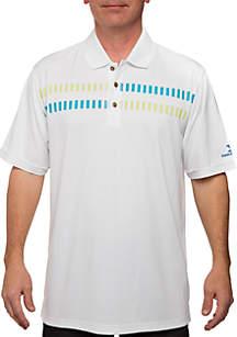 Mesh Printed Polo Shirt