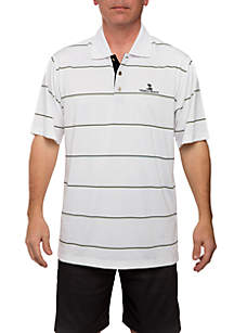 Poly Jersey Engineer Stripe Polo Shirt