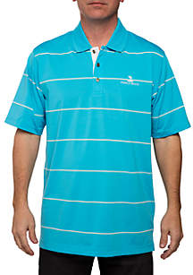 PEBBLE BEACH™ Poly Jersey Engineer Stripe Polo Shirt