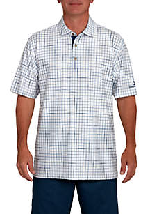 Windowpane Polo Shirt
