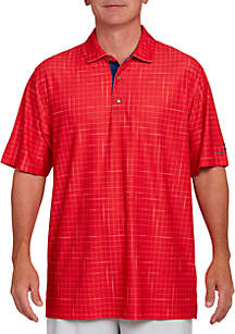 Windowpane Polo Shirt