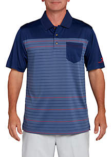 Jersey Stripe Pocket Polo Shirt