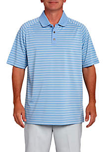 Stripe Performance Golf Polo Shirt