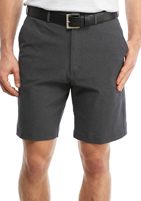 9.5-in Classic-Fit Marled Woven Performance Golf Shorts