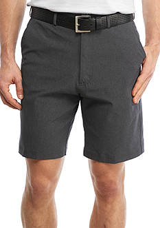 PEBBLE BEACH™ 9.5-in Classic-Fit Marled Woven Performance Golf Shorts