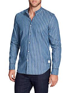 Hudson Long Sleeve Stripe Denim Shirt