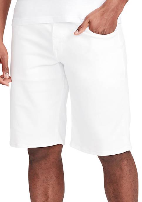 Kendrick White Jean Shorts