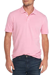 Short Sleeve Solid Stretch Pique Polo