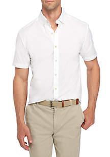 Short Sleeve Poplin Button-Down Shirt