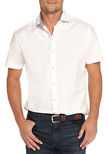 Short Sleeve Stretch Poplin Shirt