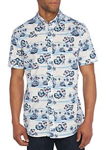 Motion Flex Short Sleeve Scenic Poplin Shirt