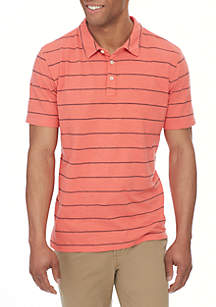 Sun Washed Striped Polo