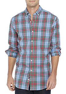 Crown & Ivy™ Poplin Plaid Classic Shirt