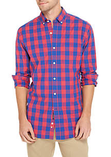 Crown & Ivy™ Poplin Plaid Classic Shirt