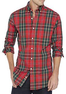 Poplin Plaid Classic Shirt