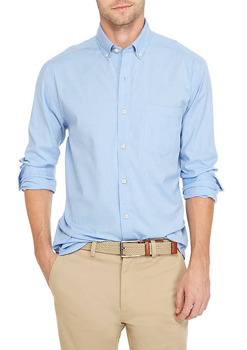Crown & Ivy™ Poplin Solid Classic Shirt