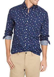 Poplin Print Classic Shirt