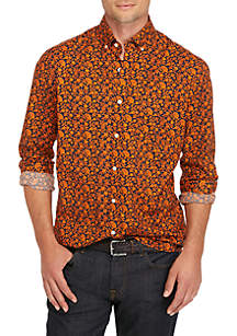 Crown & Ivy™ Poplin Print Classic Shirt