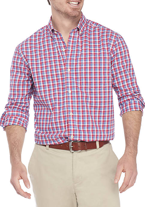 Crown & Ivy™ Non Iron Plaid Classic Fit