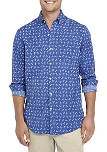 Crown & Ivy™ Long Sleeve Motion Flex Poplin Shirt Classic Fit