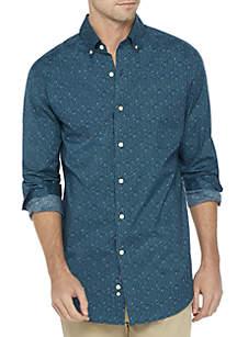 Long Sleeve Motion Flex Poplin Shirt Classic Fit