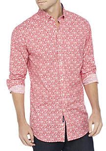 c7ab3f414e43e ... Crown   Ivy™ Long Sleeve Motion Flex Poplin Shirt Classic Fit