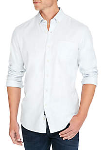 Crown & Ivy™ Long Sleeve Brushed Solid Button Down Shirt