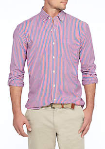 Long Sleeve Poplin Stripe Shirt