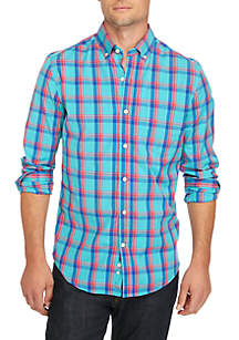 Poplin Plaid Slim Shirt