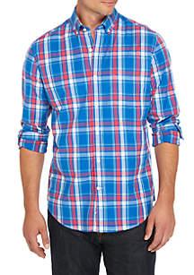Poplin Plaid Slim Shirt