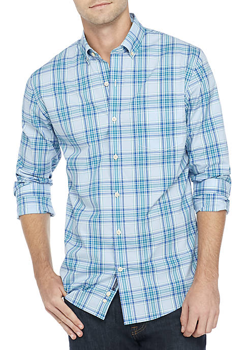 Crown & Ivy™ Non-Iron Plaid Slim Fit Shirt