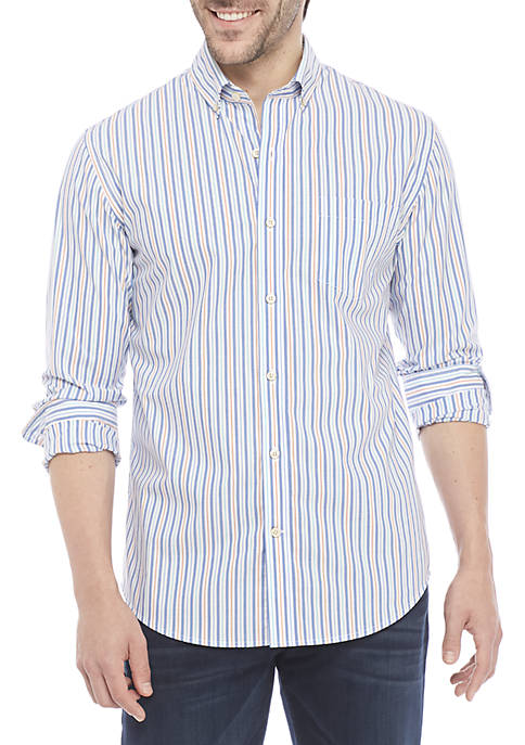 Non Iron Stripe Slim Fit Shirt