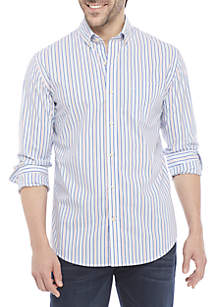 Crown & Ivy™ Non Iron Stripe Slim Fit Shirt