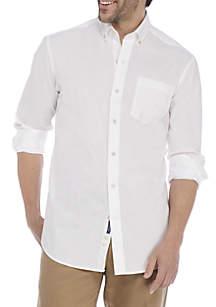 Long Sleeve Motion Flex No Iron Poplin Classic Fit Shirt