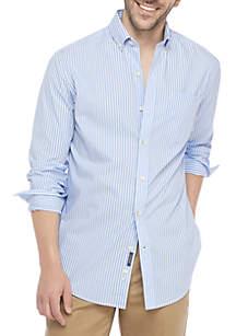 Long Sleeve Motion Flex No Iron Poplin Slim Fit Shirt