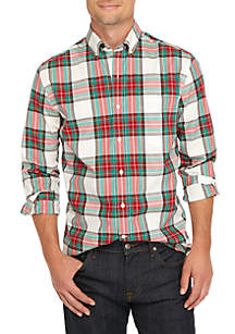 Non-Iron Plaid Classic Button Down