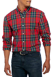 Poplin Plaid Classic Shirt