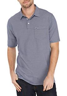 Motion Flex Short Sleeve Stripe Jersey Polo Shirt