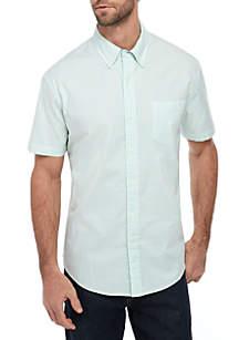 Crown & Ivy™ Short Sleeve Stripe Oxford Shirt