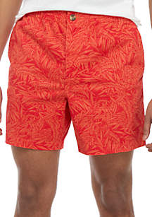 Crown & Ivy™ Motion Flex Printed Twill Deck Shorts