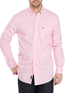 Crown & Ivy™ Motion Flex Long Sleeve Icon Gingham Woven Shirt
