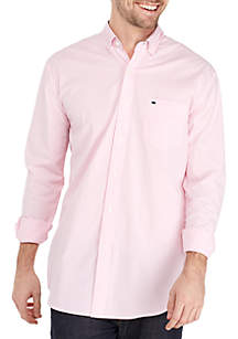 Crown & Ivy™ Motion Flex Long Sleeve Icon Bengal Stripe Woven Shirt