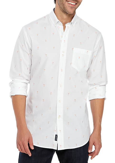 Crown & Ivy™ Slim Fit Button Down Shirt