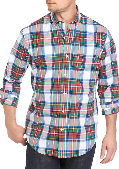 Crown & Ivy™ Long Sleeve No Iron Plaid