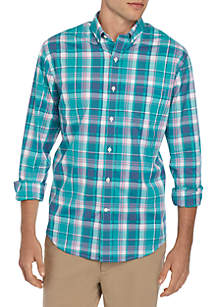 Crown & Ivy™ Long Sleeve No Iron Plaid Button Down Shirt