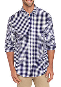 Crown & Ivy™ Slim Fit Gingham Icon Dress Shirt