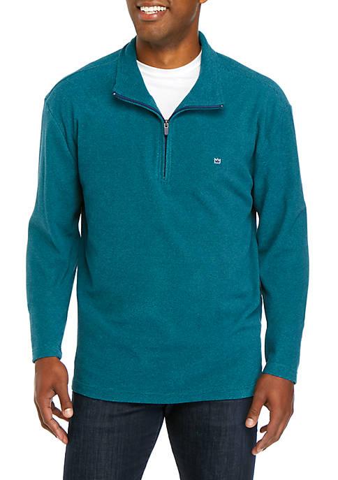 Crown & Ivy™ Fleece Quarter Zip Pullover
