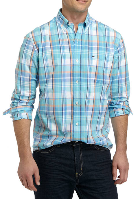 Crown & Ivy™ Mens Long Sleeve Pop Plaid